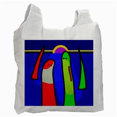 Colorful Snakes Recycle Bag (two Side)  by Valentinaart