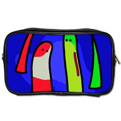 Colorful Snakes Toiletries Bags by Valentinaart
