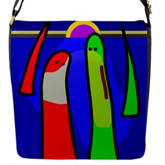 Colorful Snakes Flap Messenger Bag (s) by Valentinaart