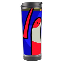Colorful Snakes Travel Tumbler by Valentinaart