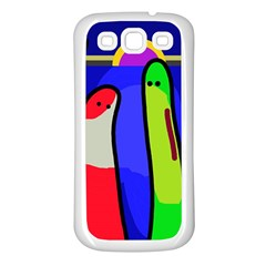 Colorful Snakes Samsung Galaxy S3 Back Case (white) by Valentinaart