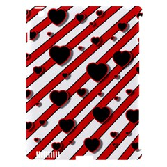 Black And Red Harts Apple Ipad 3/4 Hardshell Case (compatible With Smart Cover) by Valentinaart
