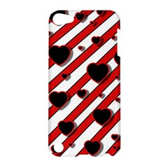 Black and red harts Apple iPod Touch 5 Hardshell Case