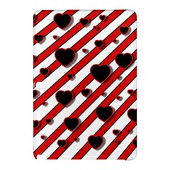 Black And Red Harts Samsung Galaxy Tab Pro 12 2 Hardshell Case by Valentinaart