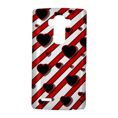 Black And Red Harts Lg G4 Hardshell Case by Valentinaart