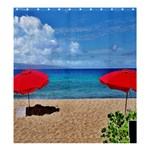 Red Umbrella Beach Set SHOWER CURTAIN - Shower Curtain 66  x 72  (Large)