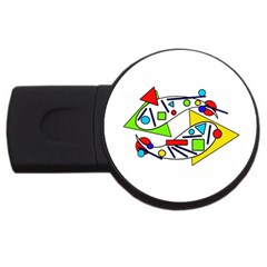 Catch Me Usb Flash Drive Round (4 Gb)  by Valentinaart