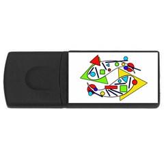 Catch Me Usb Flash Drive Rectangular (4 Gb)  by Valentinaart
