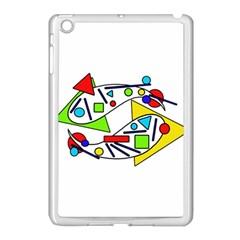 Catch Me Apple Ipad Mini Case (white) by Valentinaart