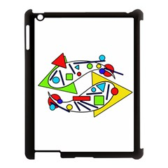 Catch Me Apple Ipad 3/4 Case (black) by Valentinaart