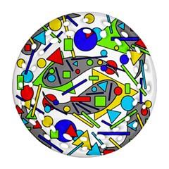 Find It Round Filigree Ornament (2side) by Valentinaart