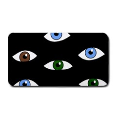 Look at me Medium Bar Mats by Valentinaart