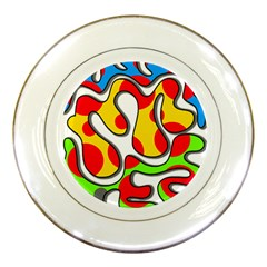 Colorful Graffiti Porcelain Plates by Valentinaart