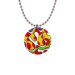Colorful Graffiti Button Necklaces by Valentinaart