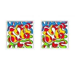 Colorful Graffiti Cufflinks (square) by Valentinaart