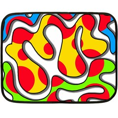 Colorful Graffiti Double Sided Fleece Blanket (mini)  by Valentinaart