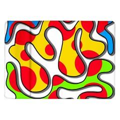 Colorful Graffiti Samsung Galaxy Tab 10 1  P7500 Flip Case by Valentinaart
