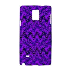 Purple Wavey Squiggles Samsung Galaxy Note 4 Hardshell Case by BrightVibesDesign