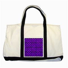 Purple Wavey Squiggles Two Tone Tote Bag by BrightVibesDesign