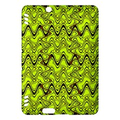 Yellow Wavey Squiggles Kindle Fire Hdx Hardshell Case by BrightVibesDesign