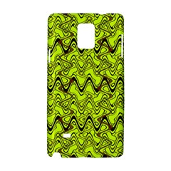 Yellow Wavey Squiggles Samsung Galaxy Note 4 Hardshell Case by BrightVibesDesign