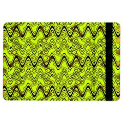 Yellow Wavey Squiggles Ipad Air 2 Flip by BrightVibesDesign