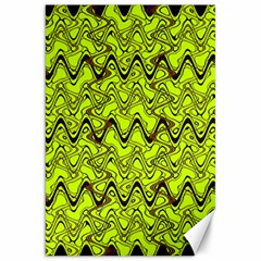 Yellow Wavey Squiggles Canvas 20  X 30   by BrightVibesDesign