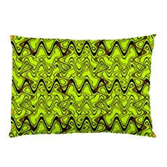 Yellow Wavey Squiggles Pillow Case (two Sides)