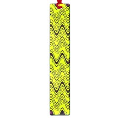 Yellow Wavey Squiggles Large Book Marks by BrightVibesDesign