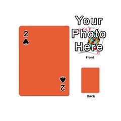Tomato Colour Playing Cards 54 (Mini)  by artpics