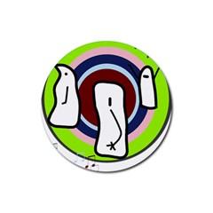 Disco Rubber Coaster (round)  by Valentinaart