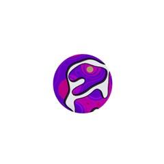 Purple Graffiti 1  Mini Buttons by Valentinaart