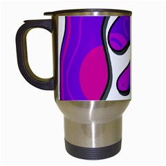 Purple Graffiti Travel Mugs (white) by Valentinaart