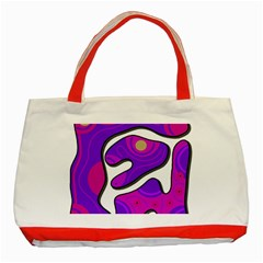 Purple Graffiti Classic Tote Bag (red) by Valentinaart