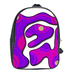 Purple Graffiti School Bags(large)  by Valentinaart