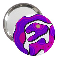 Purple Graffiti 3  Handbag Mirrors by Valentinaart