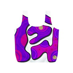 Purple Graffiti Full Print Recycle Bags (s)  by Valentinaart