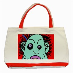 Caveman Classic Tote Bag (red) by Valentinaart