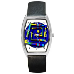 Maze Barrel Style Metal Watch by Valentinaart