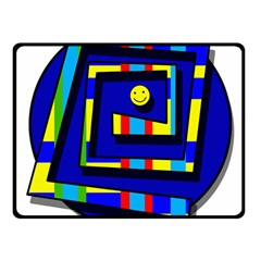 Maze Double Sided Fleece Blanket (small)  by Valentinaart