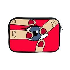 Poke In The Eye Apple Ipad Mini Zipper Cases by Valentinaart