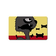 Angry Little Dog Magnet (name Card) by Valentinaart