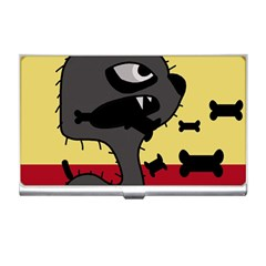 Angry Little Dog Business Card Holders by Valentinaart