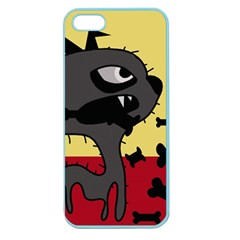 Angry Little Dog Apple Seamless Iphone 5 Case (color) by Valentinaart