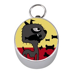 Angry Little Dog Mini Silver Compasses by Valentinaart
