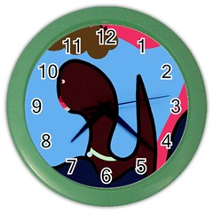 Sea monster Color Wall Clocks