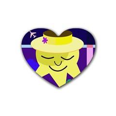 Mr  Sun Heart Coaster (4 Pack)  by Valentinaart