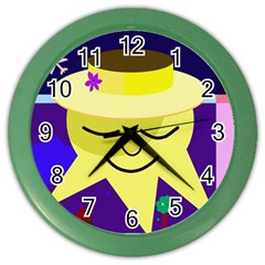 Mr. Sun Color Wall Clocks
