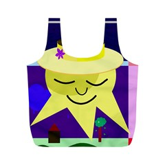 Mr  Sun Full Print Recycle Bags (m)  by Valentinaart