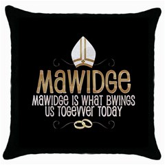 Princess Bride Black Throw Pillow Case by GlamourG33k